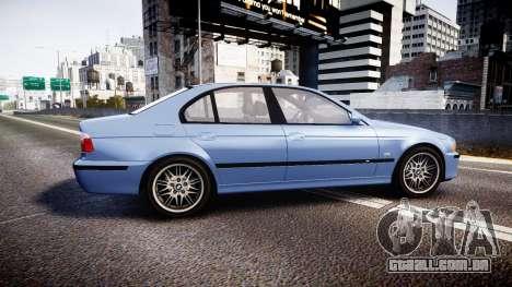 BMW M5 E39 stock para GTA 4 esquerda vista