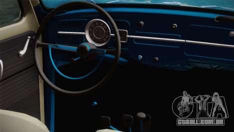 Volkswagen Fusca 1974 para GTA San Andreas vista direita