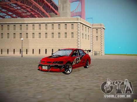 Mitsubishi Lancer Tokyo Drift para GTA San Andreas vista interior