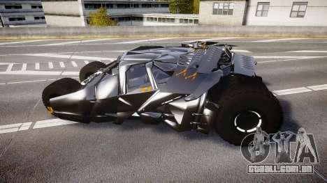 Batman tumbler [EPM] para GTA 4 esquerda vista