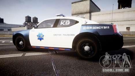Dodge Charger 2010 LCPD K9 [ELS] para GTA 4 esquerda vista