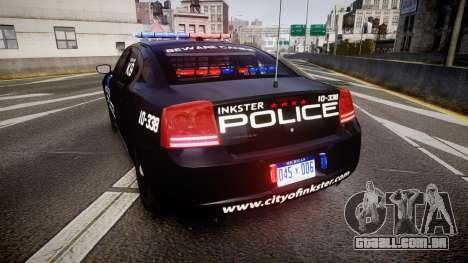 Dodge Charger 2010 Police K9 [ELS] para GTA 4 traseira esquerda vista