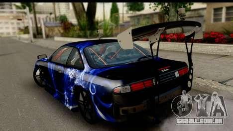 Nissan Silvia S14 Kouki Skin para GTA San Andreas esquerda vista