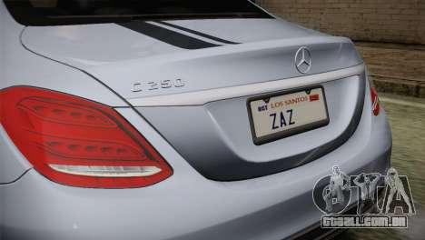 Mercedes-Benz C250 AMG Edition 2014 SA Plate para GTA San Andreas vista direita