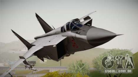 MIG 31 Estovakian Air Force para GTA San Andreas vista traseira
