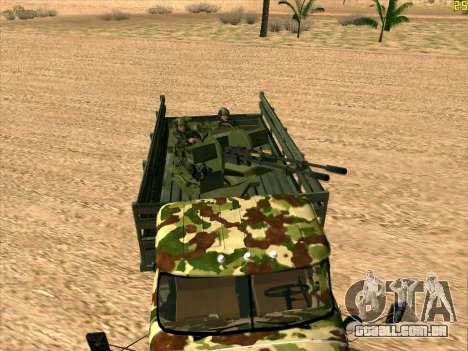 ZIL 131 Shaitan Arba para GTA San Andreas vista direita