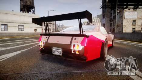 Declasse Sabre GT-R [Update] para GTA 4 traseira esquerda vista