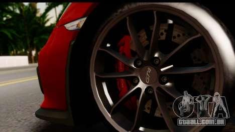 Porsche Cayman GT4 981c 2016 para GTA San Andreas vista interior