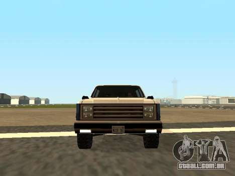 Rancher Four Door para GTA San Andreas vista direita