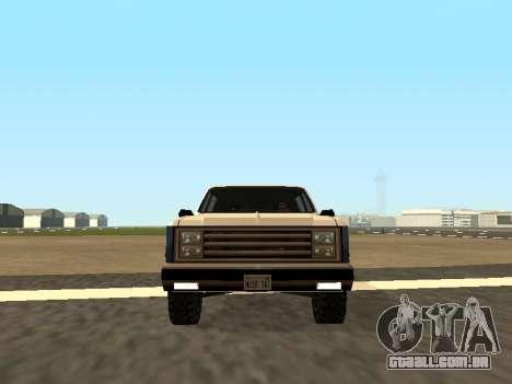 Rancher Four Door para GTA San Andreas vista direita