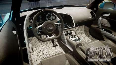 Audi R8 Tron Legacy [EPM] para GTA 4 vista de volta
