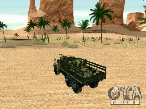 ZIL 131 Shaitan Arba para GTA San Andreas vista traseira