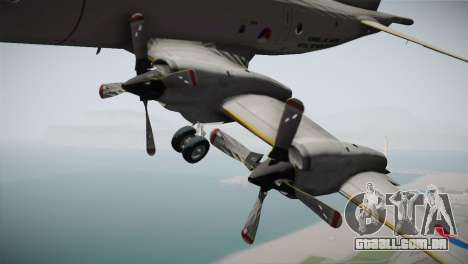 Lockheed P-3 Orion MLD New para GTA San Andreas vista direita