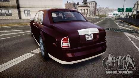 Rolls-Royce Phantom EWB v3.0 para GTA 4 traseira esquerda vista