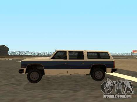 Rancher Four Door para GTA San Andreas vista interior