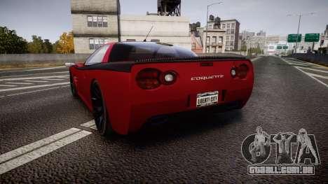 Invetero Coquette Spec-R1 para GTA 4 traseira esquerda vista