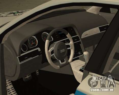 Audi RS6 Combi Police Czech Republic para GTA San Andreas vista direita
