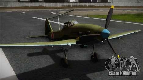 ИЛ-10 Korean Air Force para GTA San Andreas vista traseira