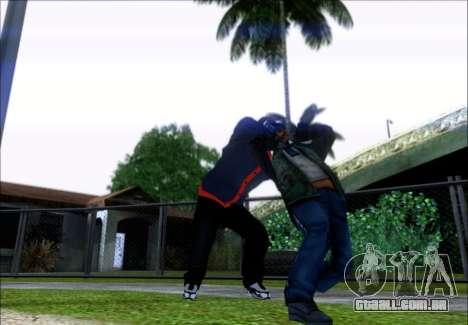 Franklin (o Ladrão) de GTA 5 para GTA San Andreas terceira tela