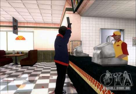 Franklin (o Ladrão) de GTA 5 para GTA San Andreas por diante tela