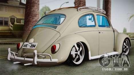 Volkswagen Fusca 1974 para GTA San Andreas esquerda vista