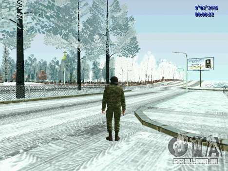 Lutador da MIA no inverno uniformes para GTA San Andreas
