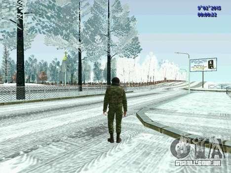 Lutador da MIA no inverno uniformes para GTA San Andreas segunda tela