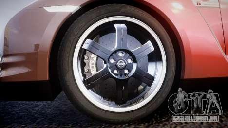 Nissan R35 GT-R V.Spec 2010 para GTA 4 vista de volta