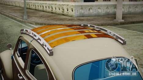 Volkswagen Fusca 1974 para GTA San Andreas vista traseira