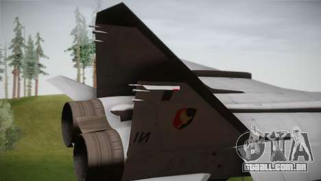 MIG 31 Estovakian Air Force para GTA San Andreas traseira esquerda vista