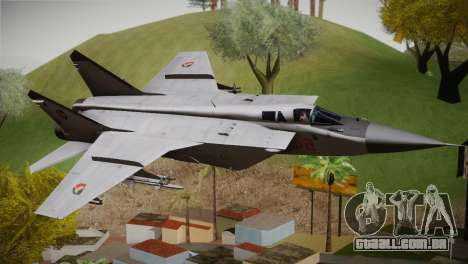 MIG 31 Estovakian Air Force para GTA San Andreas
