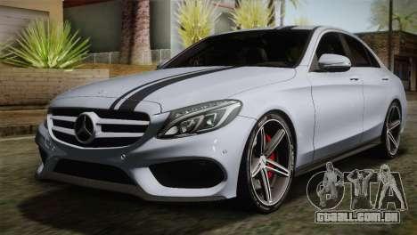 Mercedes-Benz C250 AMG Edition 2014 SA Plate para GTA San Andreas