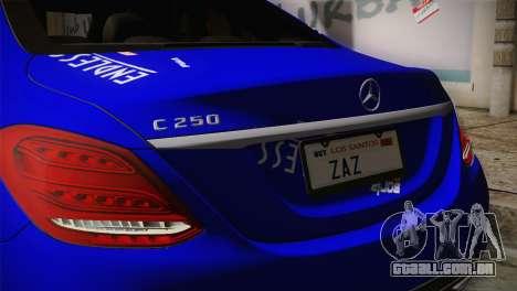 Mercedes-Benz C250 AMG Edition 2014 SA Plate para GTA San Andreas vista traseira