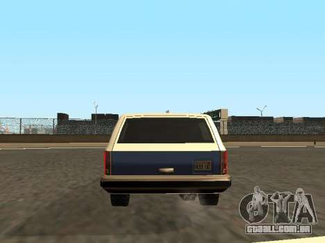Rancher Four Door para GTA San Andreas interior