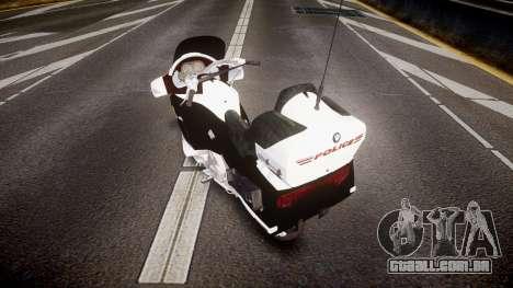 BMW K1200LT Police [ELS] para GTA 4 traseira esquerda vista