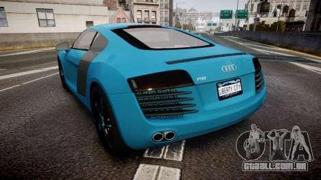 Audi R8 Tron Legacy [EPM] para GTA 4 traseira esquerda vista