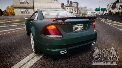 Benefactor Feltzer V8 Sport para GTA 4 traseira esquerda vista