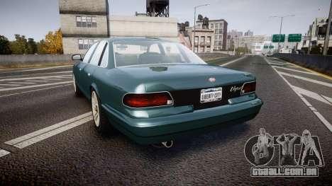 GTA V Vapid Stanier new wheels para GTA 4 traseira esquerda vista