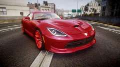 Dodge Viper SRT 2013 rims1 para GTA 4