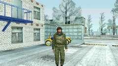 Lutador da MIA no inverno uniformes