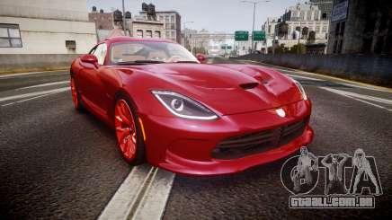 Dodge Viper SRT 2013 rims1 para GTA 4