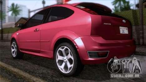 Ford Focus ST Tunable para GTA San Andreas esquerda vista