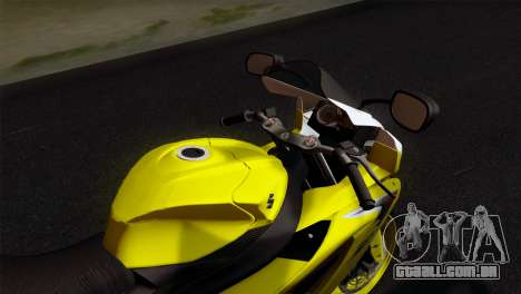 Suzuki GSX-R 2015 Yellow & White para GTA San Andreas vista direita