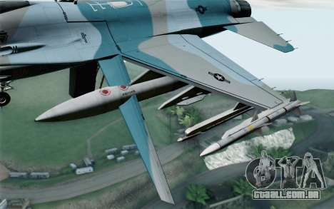 F-16C Fighting Falcon Aggressor BlueGrey para GTA San Andreas vista direita