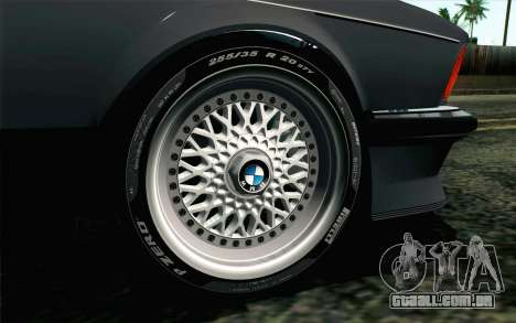 BMW M635CSI E24 1986 V1.0 EU Plate para GTA San Andreas traseira esquerda vista