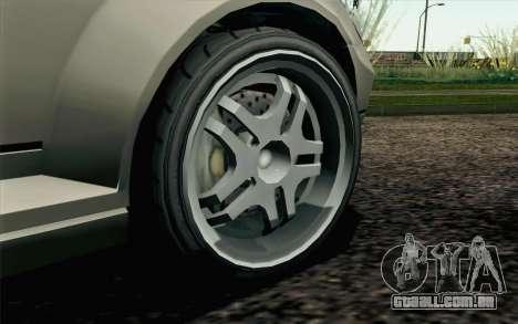 GTA 5 Benefactor Schafter IVF para GTA San Andreas traseira esquerda vista