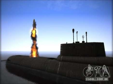 O NPS projeto 941 Akula para GTA San Andreas terceira tela