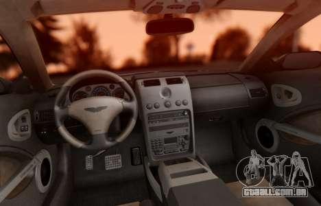 Aston Martin V12 Vanquish 2001 v1.01 para GTA San Andreas vista interior