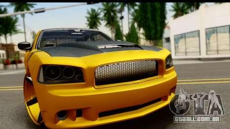 Dodge Charger SRT8 2006 Tuning para GTA San Andreas traseira esquerda vista