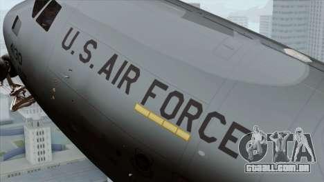 C-17A Globemaster III USAF McGuire para GTA San Andreas vista direita